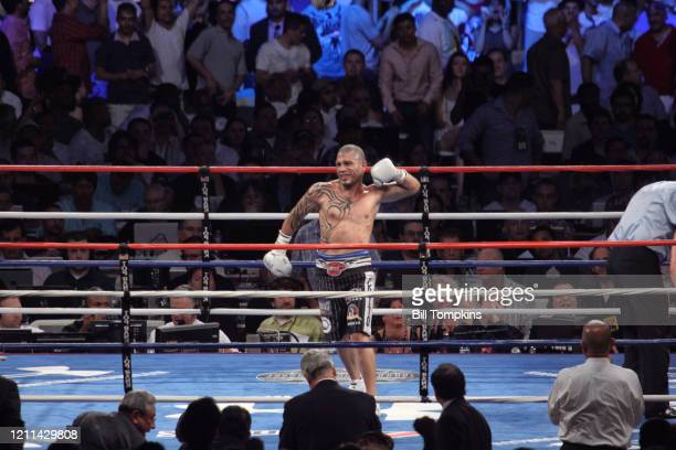 Bill Tompkins/Getty Images Miguel Cotto defeats Yuri Foreman by 9th round TKO in their WBA Super Welterweight championship fight at Yankee Stadium...