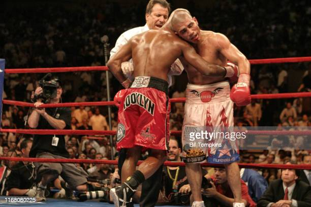 June 9: MANDATORY CREDIT Bill Tompkins/Getty Images Miguel Cotto defeats Zab Judah by TKO in the 11th round in their Welterweight fight at Madison...