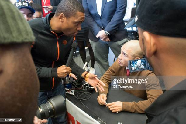 November 29: MANDATORY CREDIT Bill Tompkins/Getty Images Miguel Cotto speaks to the media at the press conference prior ot his Junior Middleweight...