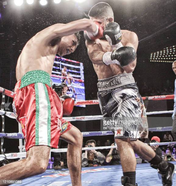 MANDATORY CREDIT Bill Tompkins/Getty Images Mikey Garcia defeats Juan Carlos Burgos by Unanimous Decision in their Super Featherweight fight on...