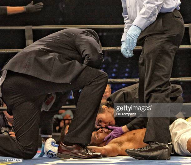Bill Tompkins/Getty Images Min Wook Kim defeats Louis Cruz in their Super Lightweight fight by TKO in the 1st round on July 30 2016 in Brooklyn