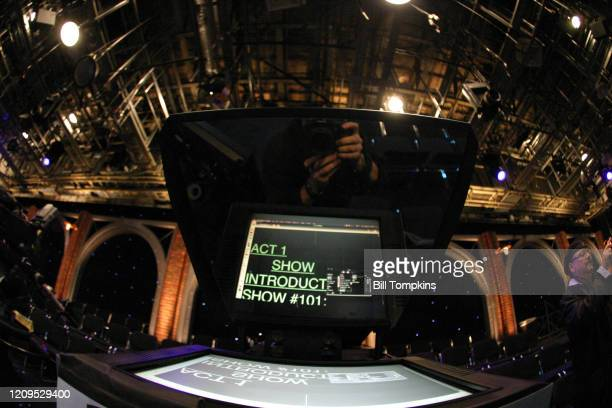 MANDATORY CREDIT Bill Tompkins/Getty Images Monitor on the set of the Season Premiere of THE MARRIAGE REF Produced by Jerry Seinfeld for NBC on May 1...