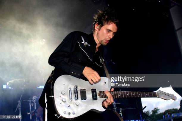 July 31: MANDATORY CREDIT Bill Tompkins/Getty Images Muse performing at the CURIOUSA festival at Randall's Island in New York. July 31, 2004.