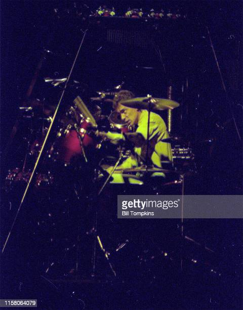 MANDATORY CREDIT Bill Tompkins/Getty Images Neil Peart drummer for RUSH June 1983 in New York City