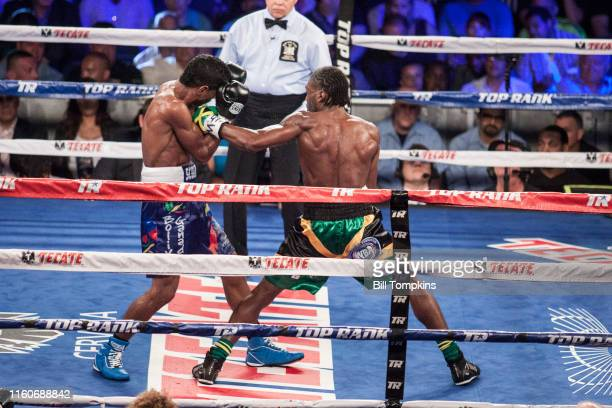 MANDATORY CREDIT Bill Tompkins/Getty Images Nicholas Walters defeats Miguel Marriaga by Unanimous Decision in their Featherweight fight at Madison...