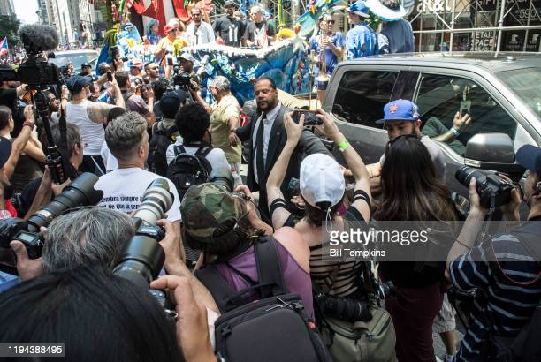MANDATORY CREDIT Bill Tompkins/Getty Images Oscar Lopez Rivera during the Puerto Rican Day Parade on June 11 2017 in New York City