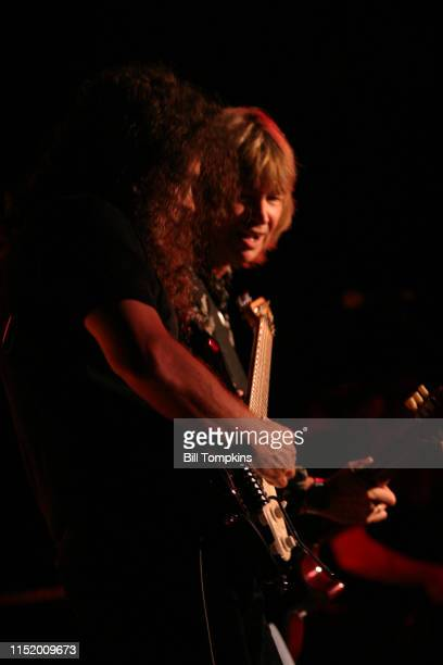 MANDATORY CREDIT Bill Tompkins/Getty Images Paul Raymond rhythm guitarist of UFO performs at club BB KING's October 2004 in New York City