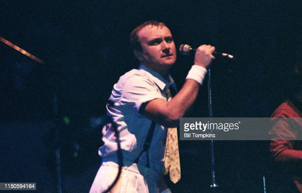 Bill Tompkins/Getty Images Phil Collins lead singer of Genesis performs at Madison Square Garden 1983 in New York City