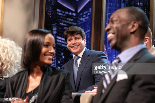 MANDATORY CREDIT Bill Tompkins/Getty Images Rod Blagojevich former Governor of Illinois on the set of the live final episode of the Celebrity...