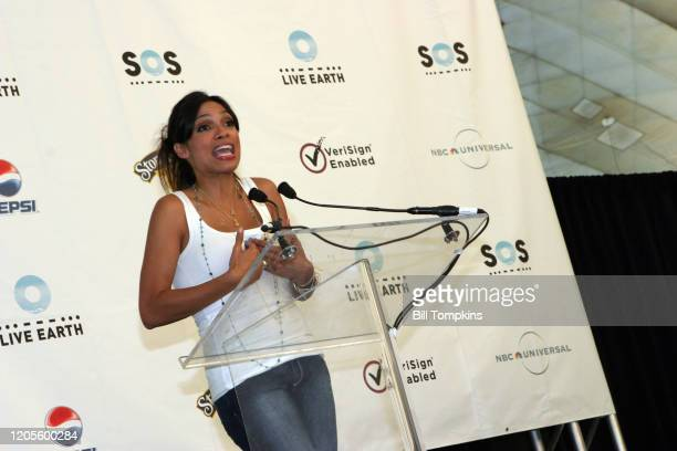 July 7: MANDATORY CREDIT Bill Tompkins/Getty Images Rosario Dawson on July 7, 2007 in East Rutherford. Live Earth was a one off event developed to...
