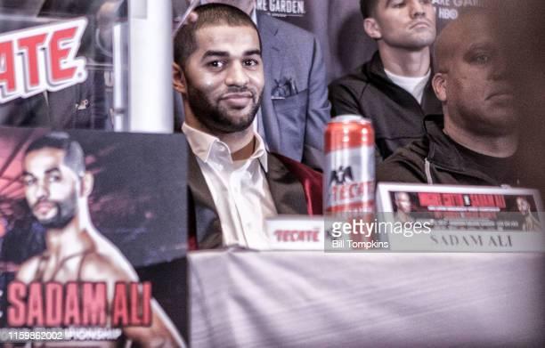 November 30: MANDATORY CREDIT Bill Tompkins/Getty Images Sadam Ali at a Press conference at Madison Square Garden. Novmeber 30, 2017 in New York...