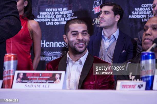 November 29: MANDATORY CREDIT Bill Tompkins/Getty Images Sadam Ali at the press conference prior ot his Junior Middleweight fight against Miguel...