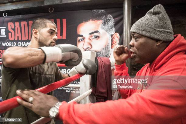 November 28: MANDATORY CREDIT Bill Tompkins/Getty Images Sadam Ali punps fists with fighter Iran Barkley prior to his scheduled Junior Middleweight...