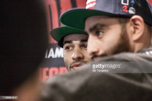 November 28: MANDATORY CREDIT Bill Tompkins/Getty Images Sadam Ali speaks ot the media prior to his scheduled Junior Middleweight fight against...
