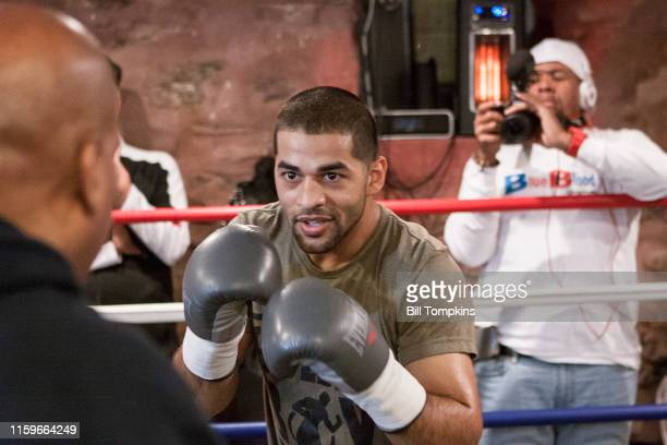 MANDATORY CREDIT Bill Tompkins/Getty Images Sadam Ali works out prior to his scheduled Junior Middleweight fight against Miguel Cotto on November 28...