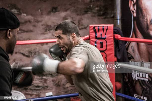 November 28: MANDATORY CREDIT Bill Tompkins/Getty Images Sadam Ali works out prior to his scheduled Junior Middleweight fight against Miguel Cotto on...