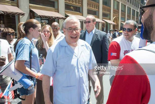 MANDATORY CREDIT Bill Tompkins/Getty Images Scott Stringer during the Puerto Rican Day Parade on June 11 2017 in New York City