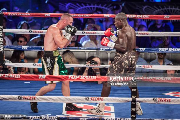June 13: MANDATORY CREDIT Bill Tompkins/Getty Images Sean Monaghan defeats Fulgencio Zuniga by TKO in the 9th round in their Light Heavyweight...
