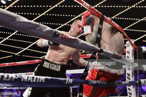 January 25: MANDATORY CREDIT Bill Tompkins/Getty Images Sean Monaghan defeats Matt Vanda by TKO in the 1st round in their Light Heavyweight fight at...