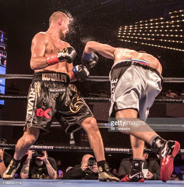 Bill Tompkins/Getty Images Sergey Kovalev defeats Igor Mikhalkin by TKO in the 7th round during their Light Heavyweight fight at Madison Square...