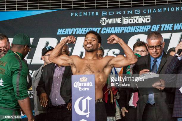 March 3: MANDATORY CREDIT Bill Tompkins/Getty Images Shawn Porter weighs in at the Barclays Center in Brooklyn, New York at the Barclays Center in...
