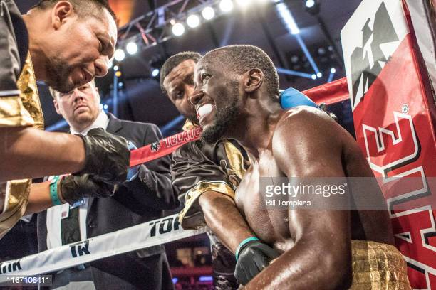 Bill Tompkins/Getty Images Terence Crawford defeats Felix Diaz by RTD in the 10th round during their Super Lightweight fight at Madison Square Garden...