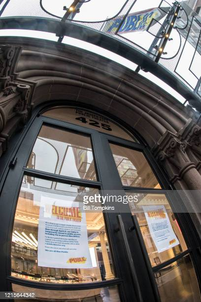 March 29: MANDATORY CREDIT Bill Tompkins/Getty Images The Public Theatre closed due to the coronavirus COVID-19 pandemic on March 29, 2020 in New...