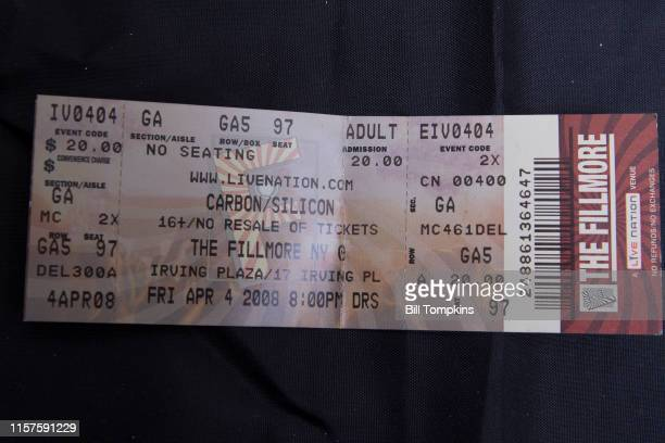 April 4: MANDATORY CREDIT Bill Tompkins/Getty Images Ticket for the band Carbon Silicon at club Irving Plaza on April 4, 2008 in New York City.
