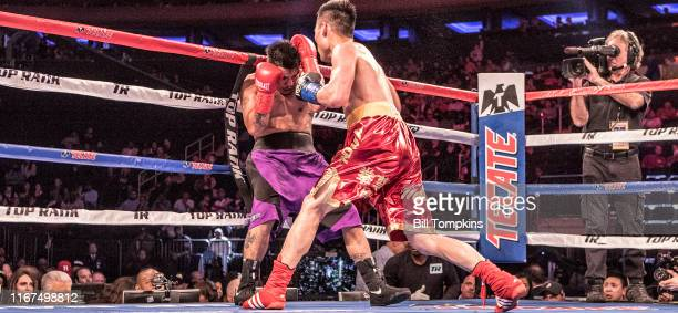 Bill Tompkins/Getty Images Tonghui Li defeats Daniel Calzada by Unanimous Decision during their Super Welterweight fight at Madison Square Garden on...