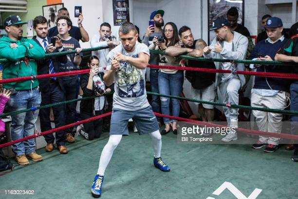 Bill Tompkins/Getty Images Vasiliy Lomachenko works out at the Mendez Gym during the Media Day workpout prior to his upcoming fight on December 6,...