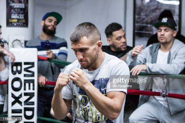 Bill Tompkins/Getty Images Vasiliy Lomachenko works out at the Mendez Gym during the Media Day workpout prior to his upcoming fight on December 6...