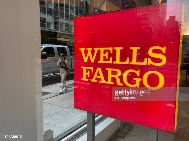 Bill Tompkins/Getty Images Wells Fargo signage on May 5th, 2021 in New York City.