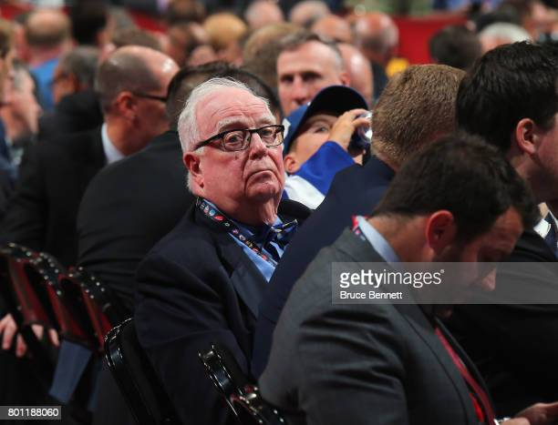 Bill Torrey of the Florida Panthers attends his 50th Draft at the 2017 NHL Draft at the United Center on June 23 2017 in Chicago Illinois