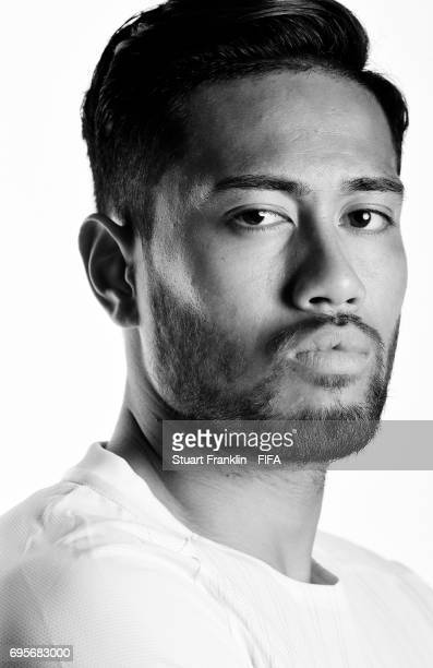 Bill Tuiloma of New Zealand poses for a pictures during the New Zealand team portrait session on June 13 2017 in Saint Petersburg Russia