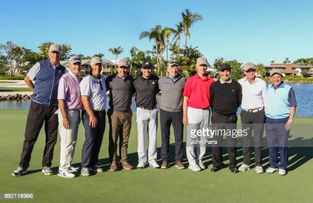 Bill Tweardy Sergio Garcia Jose Maria Olazbal Eric Soulavy Norman Scott Ted Groesbeck Ray Larkin Joe Murphy Ron Elenbaas and Joe Urbinati play golf...