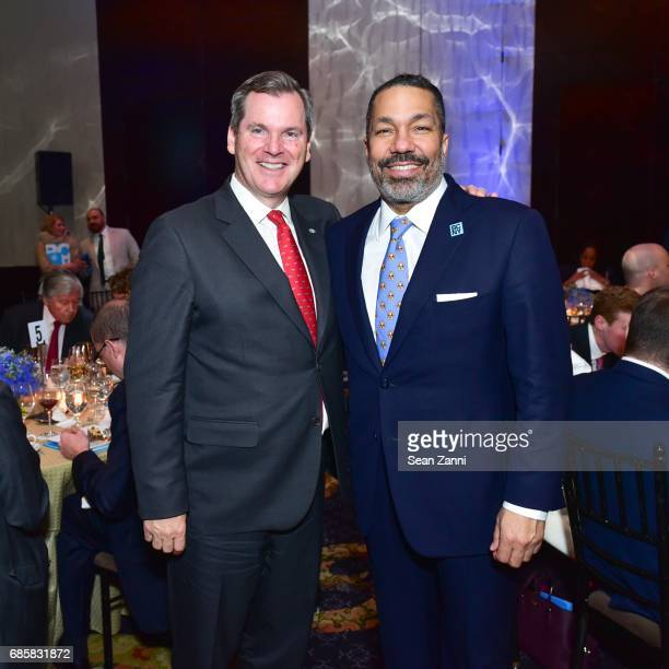 Bill Tyree and Valentino Carlotti attend The Boys' Club of New York Annual Awards Dinner at Mandarin Oriental Hotel on May 17 2017 in New York City