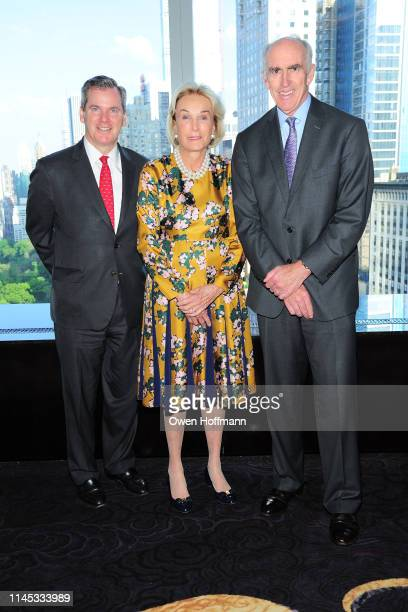 Bill Tyree Elaine Langone and Dick Cashin attend BCNY Annual Awards Dinner at Mandarin Oriental on May 20 2019 in New York City