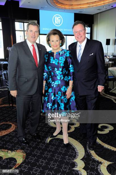 Bill Tyree Hildegarde 'Hillie' Mahoney and Bob Merrill attend The Boys' Club of New York Annual Awards Dinner at Mandarin Oriental on May 17 2017 in...