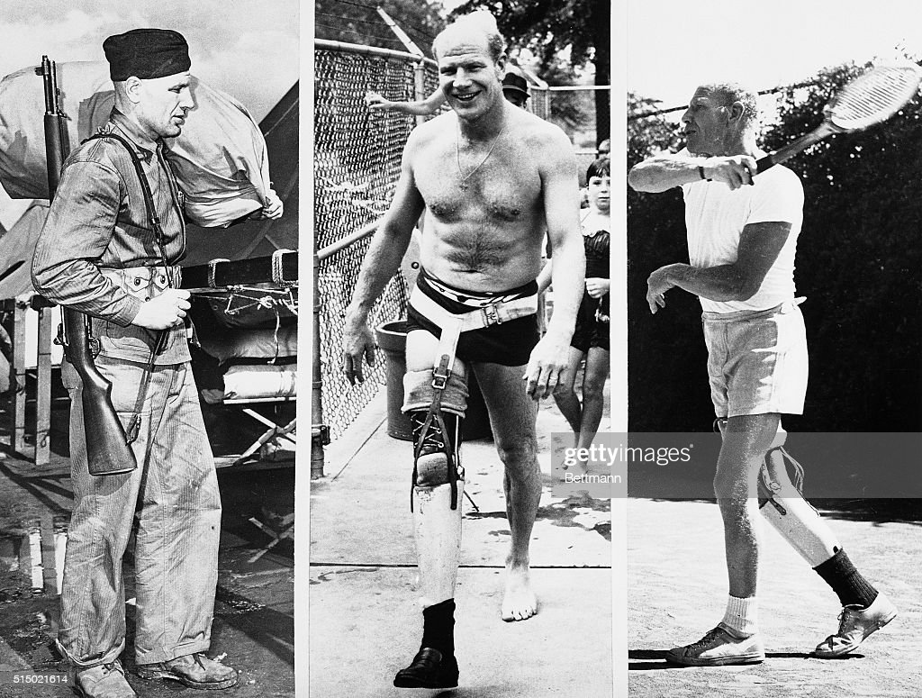 bill veeck is shown as a marine private in 1943 he lost his right