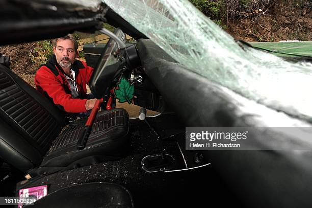 Bill Vickery looks at the totaled inside of his 1969 Pontiac Firebird Bill Vickery bought his 1969 Pontiac Firebird in 1980 and spent the next 29...