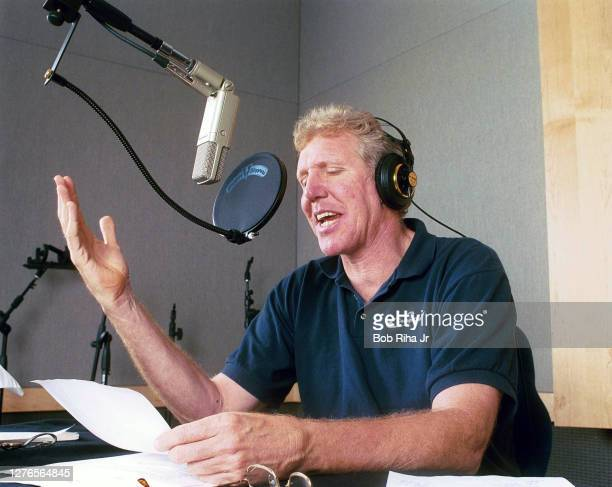 Bill Walton during recording session for upcoming video game, September 2, 2001 in San Diego, California.