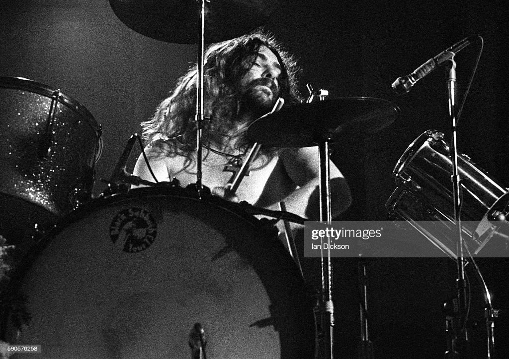 Bill Ward of Black Sabbath performing on stage at Rainbow Theatre, London 16 March 1973.