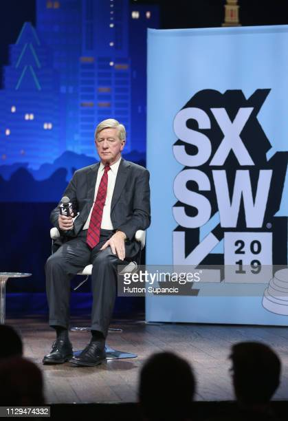 Bill Weld speaks onstage at Conversations About America's Future Former Governor Bill Weld during the 2019 SXSW Conference and Festivals at Austin...