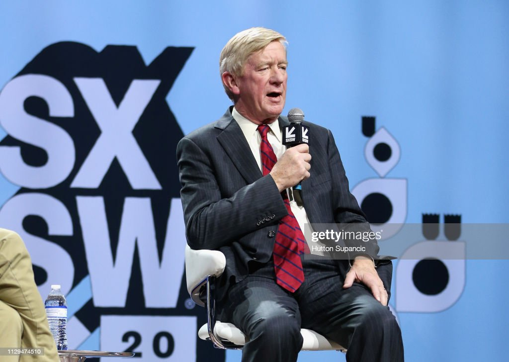 Conversations About America's Future: Former Governor Bill Weld- 2019 SXSW Conference and Festivals : News Photo