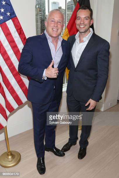 Bill White and Bryan Eure attend Ambassador Grenell Goodbye Bash on May 6 2018 in New York City