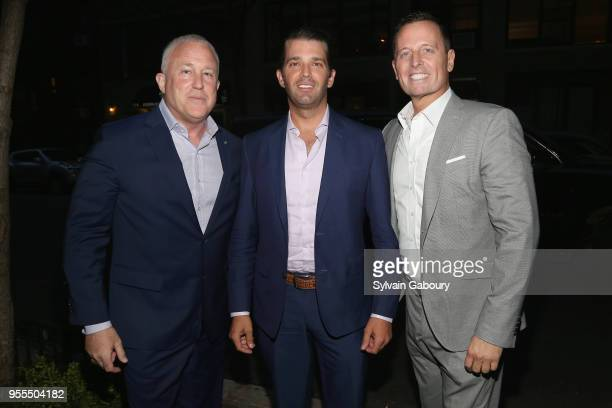 Bill White Donald Trump Jr and Ambassador Richard Grenell attend Ambassador Grenell Goodbye Bash on May 6 2018 in New York City