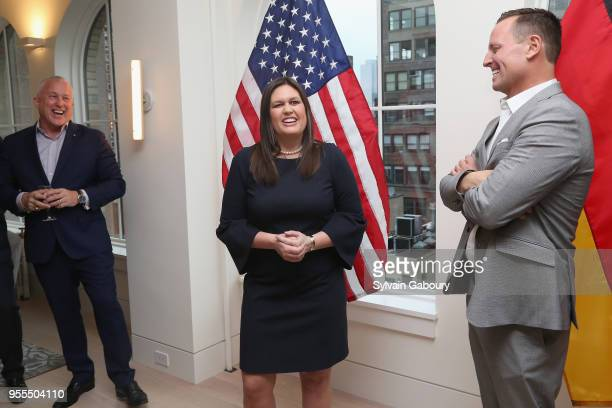 Bill White Sarah Huckabee Sanders and Ambassador Richard Grenell attend Ambassador Grenell Goodbye Bash on May 6 2018 in New York City