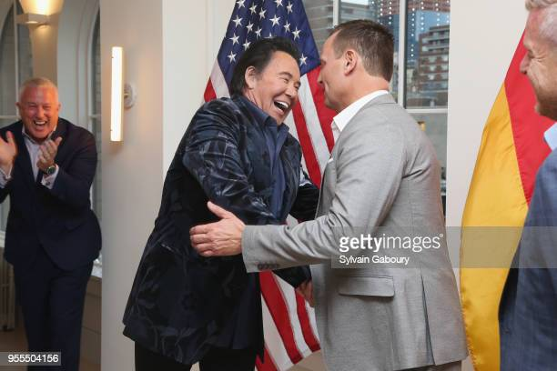Bill White Wayne Newton and Ambassador Richard Grenell attend Ambassador Grenell Goodbye Bash on May 6 2018 in New York City
