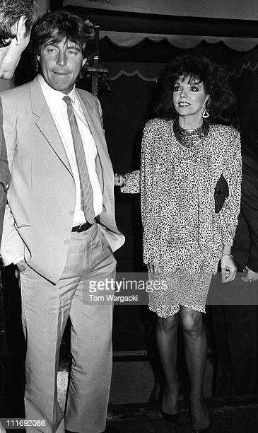 Bill Wiggins and Joan Collins during Joan Collins Sighting at Annabel's Club 1987 at Annabel's Club in London Great Britain