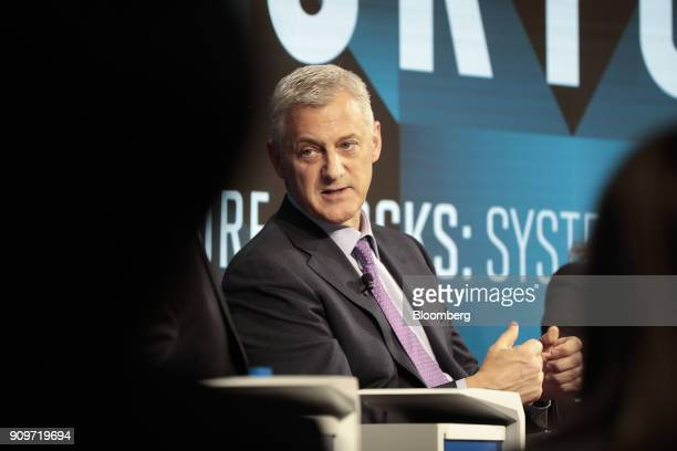 Bill Winters chief executive officer of Standard Chartered Plc speaks during a panel session on day two of the World Economic Forum in Davos...